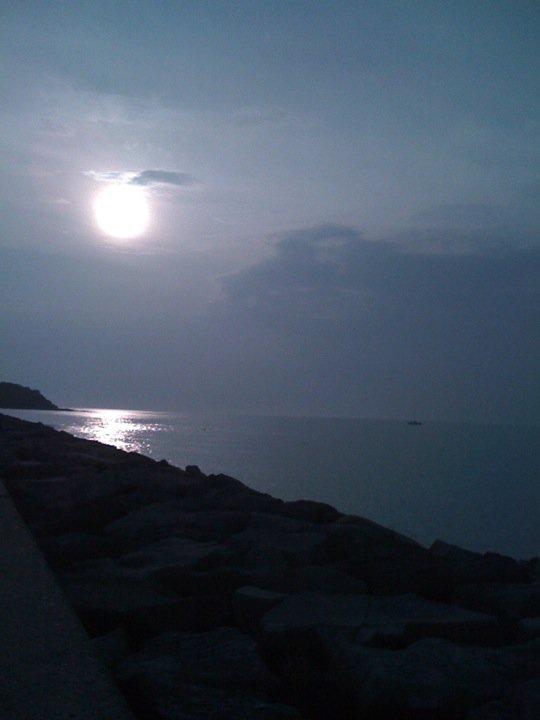 小路を抜けたときの爽快感がやばい!晩秋の海は意外に気持ちよいですよ。